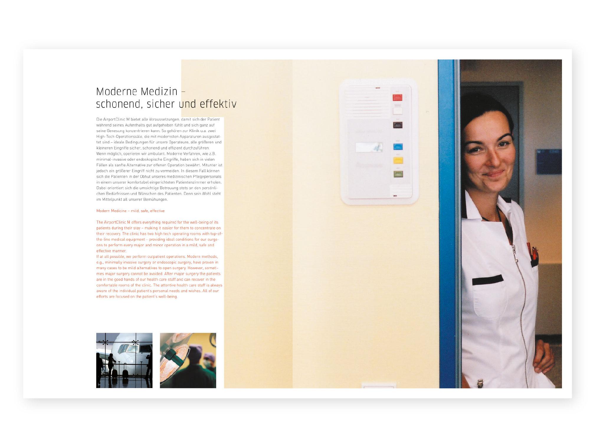 Airportclinik-Broschüre